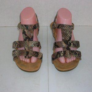 "VIONIC ""Glenda"" Brown Sling Back Open Toe Sandals"